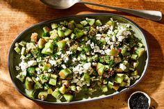 Feta Salad, Cobb Salad, Big Salad, Nadiya Hussain Recipes, Cooking Recipes, Healthy Recipes, Vegetarian Recipes, Veggie Recipes, Appetizer Recipes