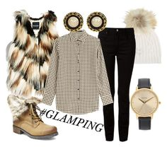 """""""Gone Glamping"""" by amanda-renee-kay ❤ liked on Polyvore featuring M. Miller, T By Alexander Wang, Steve Madden, GUESS by Marciano, Etro, Nixon, women's clothing, women's fashion, women and female"""