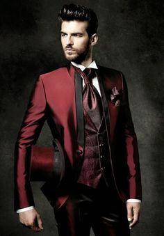 New Arrival Slim Fit Groom Tuxedos Mandarin Lapel Men'S Suit Burgundy Groomsman/Best Man Wedding/Dinner Suits Jacket+Pants+Tie+Vest J920 Mens Tuxedos Wedding Mens Wedding Tuxedos Style From Wholesalers888, $85.87| Dhgate.Com