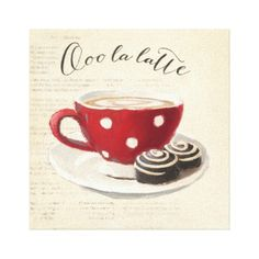 Ooo La Latte Canvas Print