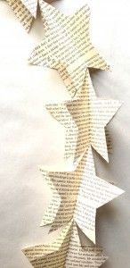 68 Trendy Diy Christmas Paper Star Book Pages Diy Christmas Presents, Christmas Paper, Christmas Crafts, Diy Outdoor Party Tent, Star Garland, Garland Ideas, Paper Ornaments, Paper Garlands, Diy Paper