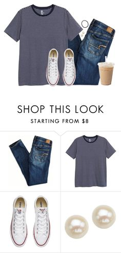 """""""Tee and jeans"""" by aweaver-2 on Polyvore featuring American Eagle Outfitters, Converse and Honora"""
