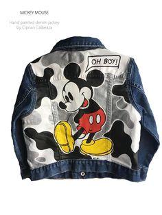 Painted Denim Jacket, Denim Jacket Men, Denim Jeans Men, Custom Clothes, Diy Clothes, Jean Jacket Design, Gilet Jeans, Custom Denim Jackets, T Shirt Painting
