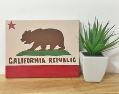 California Bear Flag Painting from Etsy | Bear Flag Museum