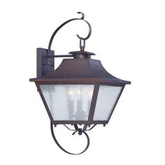 Lafayette Architectural Bronze 22.5-Inch Three-Light Outdoor Wall Mount