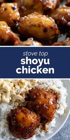 A popular Hawaiian chicken recipe, this Shoyu Chicken consists of chicken thighs that are cooked in a soy sauce mixture and served over rice. Hawaiian Dishes, Hawaiian Chicken, Recipe Chicken, Chicken Recipes, Chinese Chicken Thigh Recipes, Shoyu Chicken Recipe Hawaii, Soy Sauce Chicken, Baked Chicken, Food Dishes
