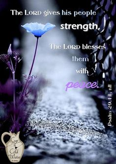 To All My Beautiful Sisters in Christ {Psalm 29:11} Say: The Lord will Give Strength Unto His People; The Lord will Bless His People with Peace. {Psalms 107:29~30} Says: He Hushes the Storm to a Calm and to a Gentle Whisper, So that the Waves of the Sea are Still. Then the Men are Glad because of the Calm, and He brings them to their desired Haven. God will give Us Strength and Peace in the Mist of the Storm and Bringeth forth a Calmness after the Storm. Love and Blessings to You, My Dear…