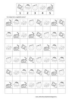 Otthon készült játékok Kindergarten Reading Activities, Kindergarten Math Worksheets, Therapy Activities, Preschool Activities, Mental Maths Worksheets, Math Resources, Coding For Kids, Math For Kids, Visual Perceptual Activities
