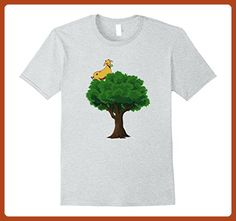Mens Goat On A Tree - Funny Simple T-Shirt Design Large Heather Grey - Funny shirts (*Partner-Link)