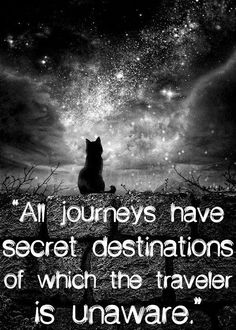 all journeys have secret destinations of which the traveler is unaware...