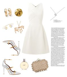 """Gold and silver"" by yehuda-eti on Polyvore featuring Malone Souliers, Jimmy Choo, mizuki, Roland Mouret, Chanel, Pat McGrath, Allurez and Ippolita"