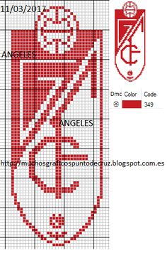 escudo de emelec en punto cruz bordados pinterest madness