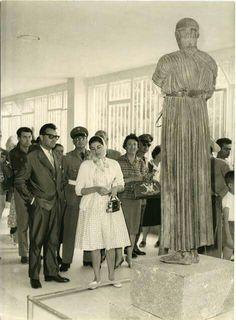 1960 ~ Soraya of Iran (former wife of Shah Mohammed Reza Pahlavi) visiting Delphi