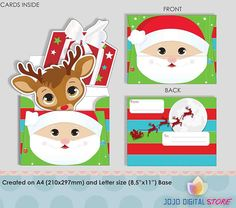 Editable Santa Clause invitations for Christmas Party