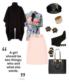 """""""Off Campus"""" by scope-stilettos ❤ liked on Polyvore featuring Gucci, Yves Saint Laurent, Dolce&Gabbana, Sophie Hulme, Warehouse and Chantecler"""