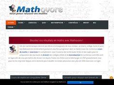 Mathovore est un site qui propose des cours et exercices de mathématiques en ligne.