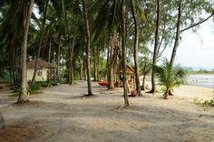 Budget bungalows on the coast of Ao Nai Wok. Baan Manali Resort is located under a large coconut plantation on the quiet beach of Nai Wok.   #resort #nature #beachfront #beautiful #holiday #familyfun #travel #restaurant #beach #aonaiwok #kohphangan #thailand