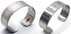 Sterling Silver Ruler Cuffs | Geek Gems