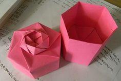 Origami Box - Tall Hexagon Box