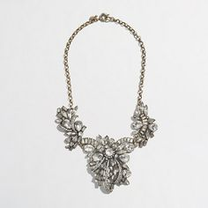 Factory crystal corsage necklace