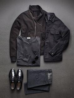 For the Men. The Hottest Color of Spring: Black : The Daily Details: Blog : Details