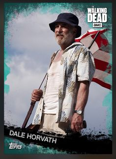 Dale Horvath (Teal Parallel) Award Insert Card The Walking Dead 2016 Topps