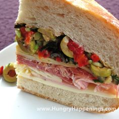 Muffuletta sandwich...the Cajuns really know how to make a sandwich...I love these.