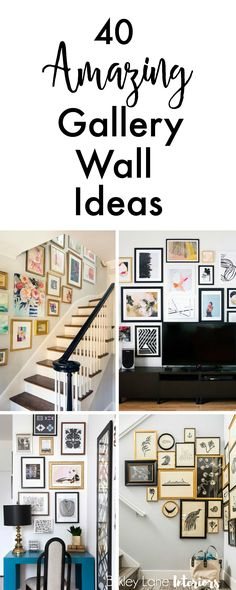 If you're looking for gallery wall ideas and inspiration, search no more! I've collected 40 amazing gallery ideas that will definitely get you excited! Gallery wall, gallery wall ideas, gallery wall l Living Room Designs, Living Room Decor, Living Rooms, How To Decorate Living Room Walls, Photowall Ideas, Gallery Wall Layout, Photo Gallery Walls, Gallery Wall Art, Living Room Gallery Wall