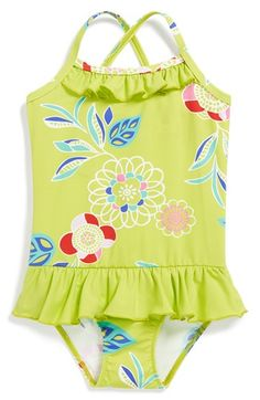 Tea Collection Skirted One-Piece Swimsuit (Toddler Girls) available at #Nordstrom