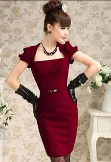Beautiful red and black ensemble-it's elegant and sharp and sassy and I love it.
