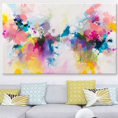 SOLD Large abstract painting on canvas, free worldwide shipping. For similar paintings visit my shop, link in bio