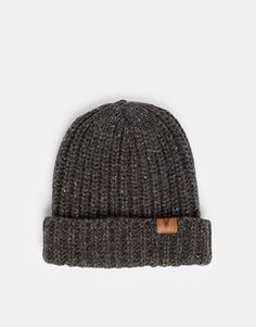 $26, Charcoal Beanie: Asos Ribbed Beanie In Wool Mix. Sold by Asos. Click for more info: https://lookastic.com/men/shop_items/131538/redirect