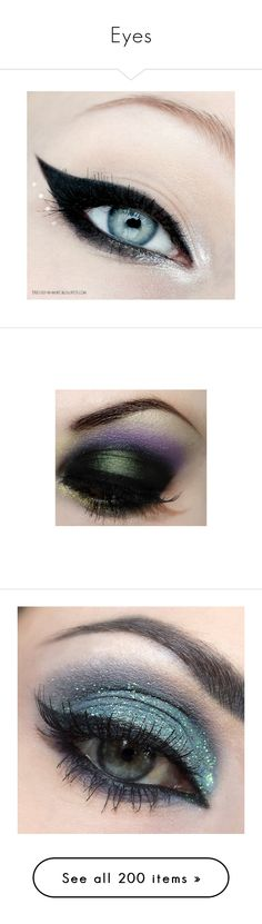 """""""Eyes"""" by jeanettebeatrice ❤ liked on Polyvore featuring eyes, eyemakeup, beauty products, makeup, eye makeup, eyeliner, beauty, maquiagem, disney makeup and disney"""