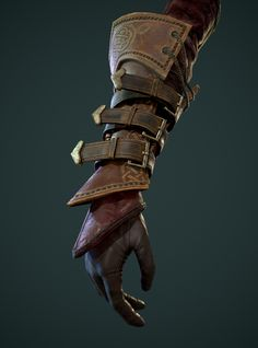 Real-time model of a glove for the character, I'm making in my free time. Armadura Medieval, Armor Clothing, Medieval Clothing, Character Concept, Character Art, Concept Art, Fantasy Armor, Medieval Fantasy, Cosplay