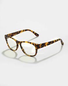 Matte Acetate Fashion Glasses, Tokyo Tortoise by Gucci at Bergdorf Goodman.