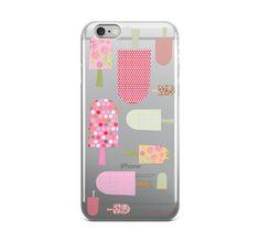 icecream iphone 6 case clear iphone 6 plus by BannerDesignShop
