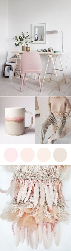 Beautiful pastel pinks moodboard - inspired by the Pantone Colour of the Year…