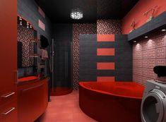 Lovely Red Bathroom Design Ideas