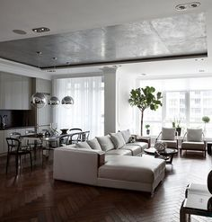 Contemporary Apartment in Kiev by Sergey Makhno Workshop