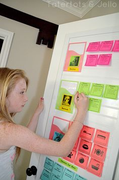 DIY post-it note printable chore chart system (Ready to take it online? Try FamZoo.com)