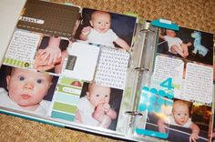 I love the way these project life albums look... I think I may make a baby book for baby grimes like this :)