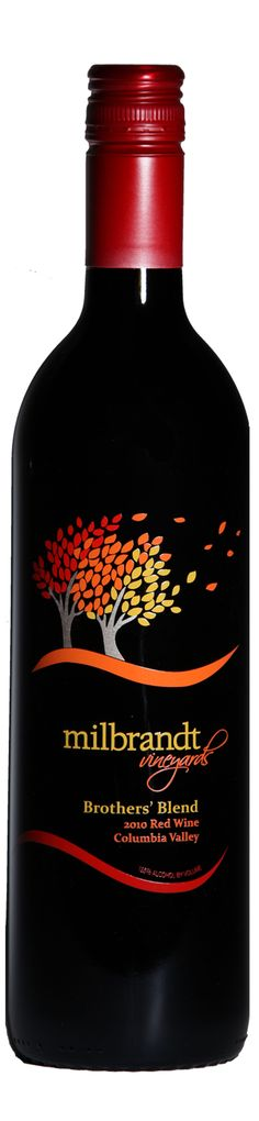 Milbrandt vineyards brothers blend 2011 - wine label design by saranelsondesign.com