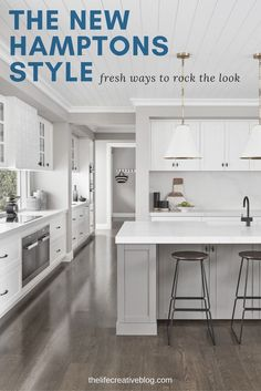 White Hamptons kitchen ideas plus a whole host of other Hamptons home style inspiration.