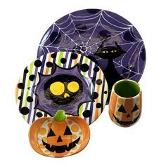 sliced pumpkin mayco painted - Google Search