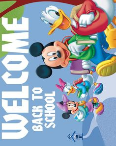 DISNEY COLORING PAGES: TEACHER- WELCOME BACK TO SCHOOL CLASSROOM SIGN