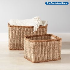This artisan basket is one of those fresh, thoughtful decor additions that can do so much for a room. Generous dimensions make it an instant clutter concealer, able to store toys, organize craft projects, sort extra linens, corral remotes and so much more. Yet is still fits neatly on a shelf. Best of all, it's made of durable natural materials. The basket you select is not like any other, with remarkable strength, subtle texture and a casual, uncomplicated look. Wire Basket Storage, Wire Storage, Storage Baskets, Small Space Organization, Craft Organization, Belly Basket, Under Bed Storage, Subtle Textures, Container Store