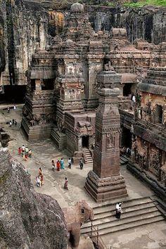 "Templo ""Kailâsanâtha"",en la India."