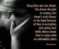 Dogs lives are too short.