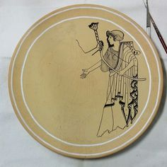 image I am painting from a famous ancient Greek vase.  #greekpottery #greekart #Artemis #Diana WORK IN PROGRESS