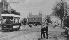 Old photograph of a Tram going to Levenhall in Musselburgh, Scotland . Levenhall is a coastal, industrial, and recreational area at Musselbu. Old Photographs, Old Photos, Edinburgh City Centre, Build A Fort, My Heritage, Ancestry, Travel Posters, Old And New, Scotland